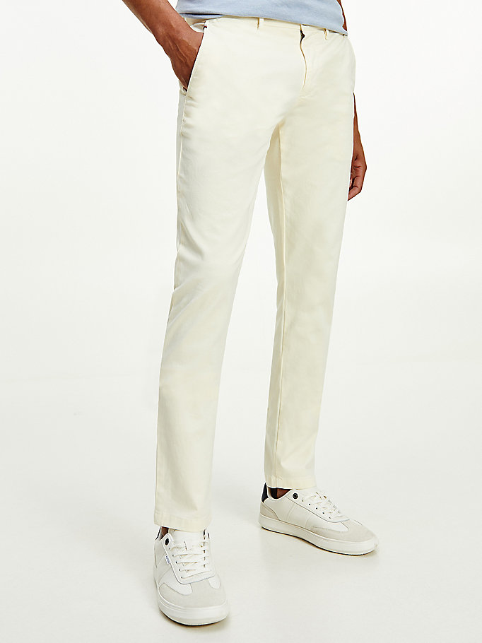 weiß bleecker th flex slim fit chinos für herren - tommy hilfiger