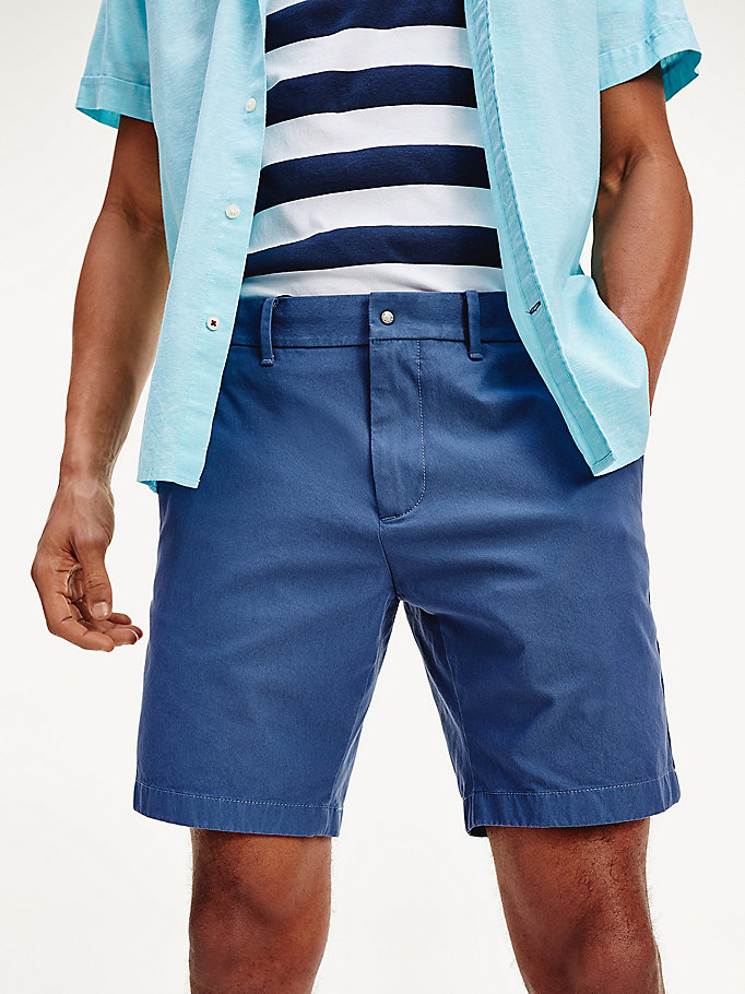 blue th flex shorts for men tommy hilfiger