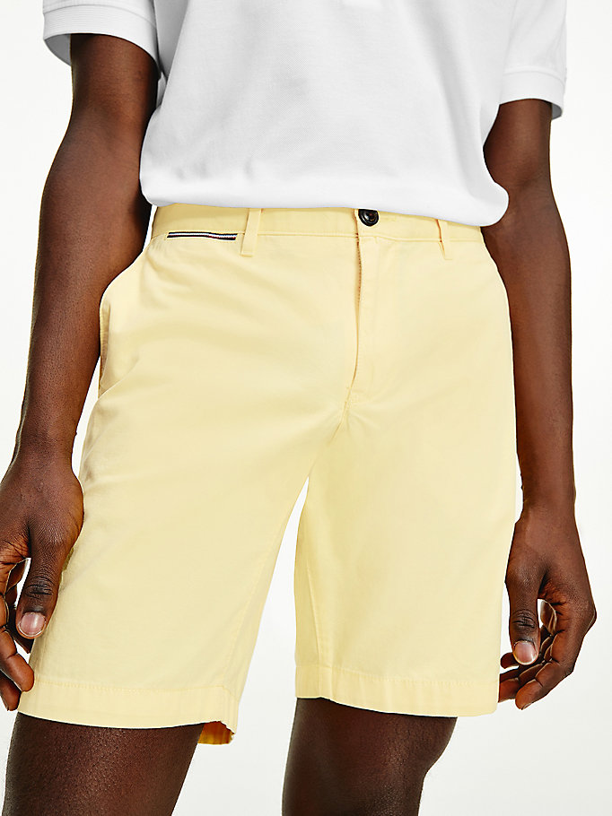 yellow brooklyn lightweight shorts for men tommy hilfiger