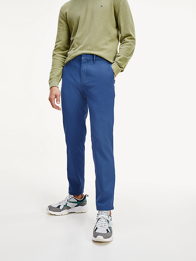 blue th flex tapered chinos for men tommy hilfiger