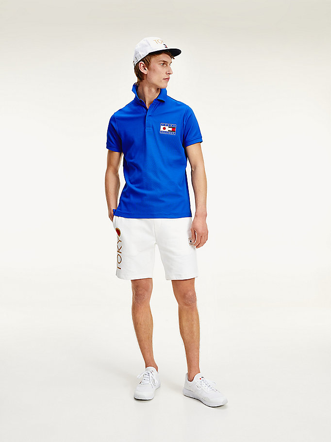 blue tokyo th cool slim fit polo for men tommy hilfiger