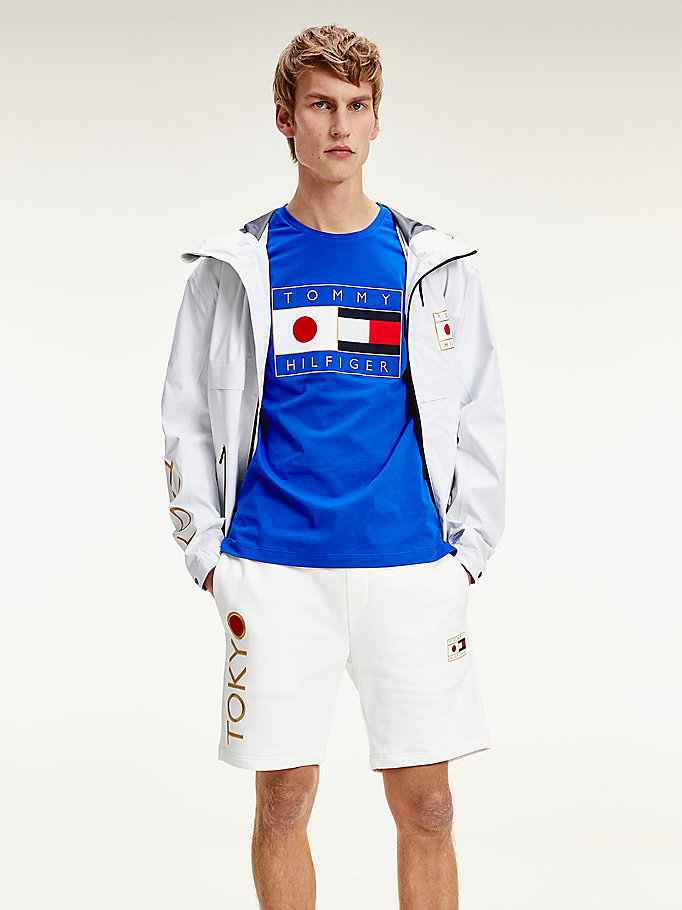 blue tokyo flag logo th cool t-shirt for men tommy hilfiger