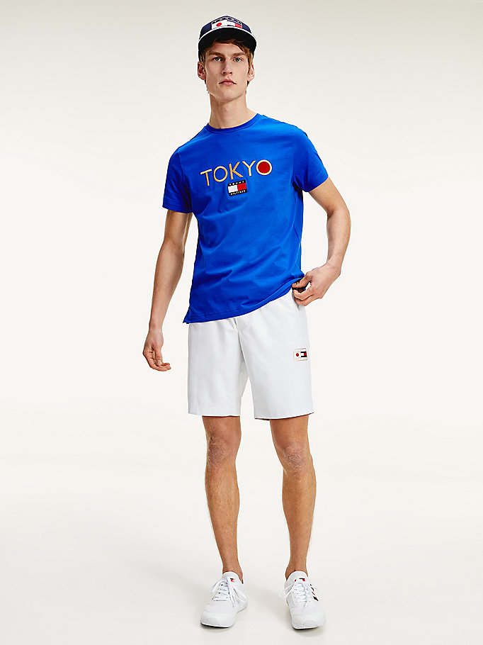 blue tokyo logo th cool cotton t-shirt for men tommy hilfiger