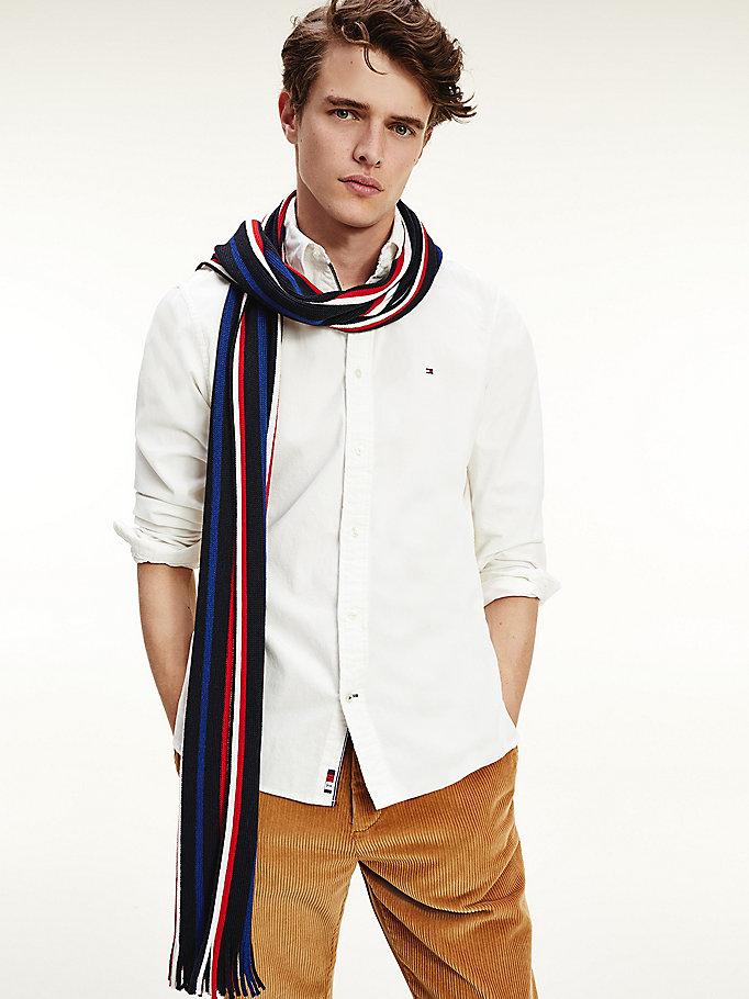 white th flex corduroy shirt for men tommy hilfiger
