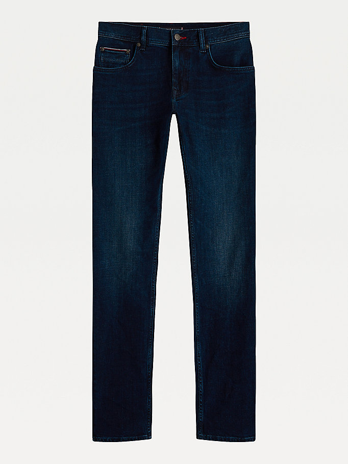 jeans big & tall straight fit denim da uomo tommy hilfiger