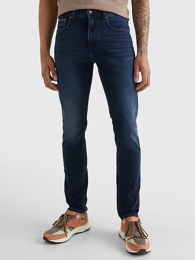 denim bleecker slim faded jeans for men tommy hilfiger