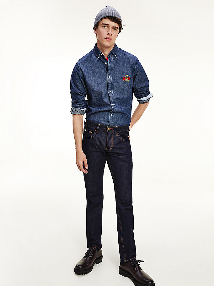 denim rugby straight jeans for men tommy hilfiger