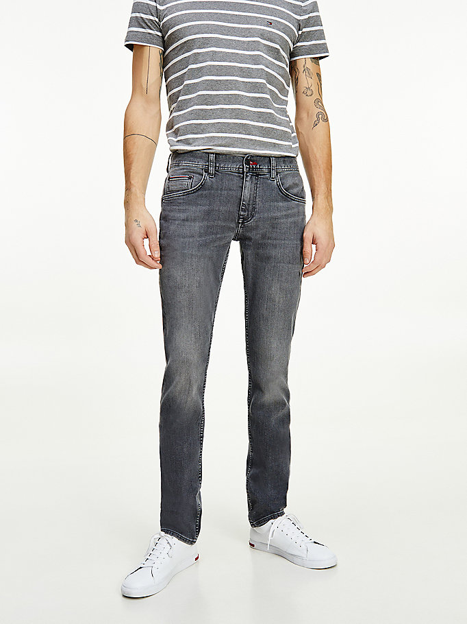 denim denton straight black jeans for men tommy hilfiger