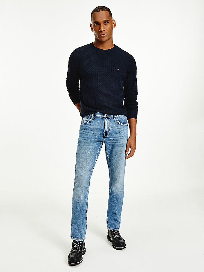 denim denton regular faded jeans for men tommy hilfiger