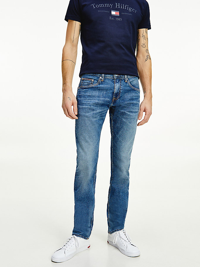 denim bleecker tapered jeans for men tommy hilfiger