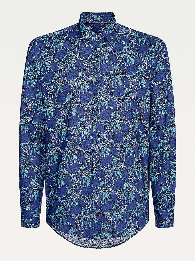 green floral print cotton shirt for men tommy hilfiger