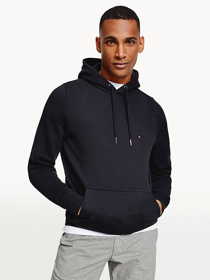 black flag embroidery hoody for men tommy hilfiger