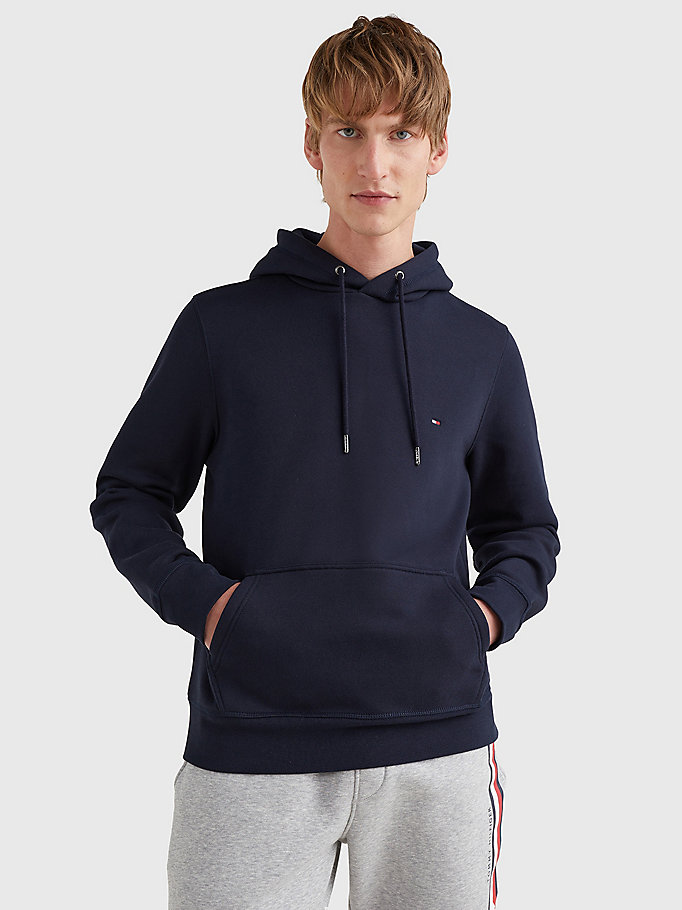 blue flag embroidery hoody for men tommy hilfiger
