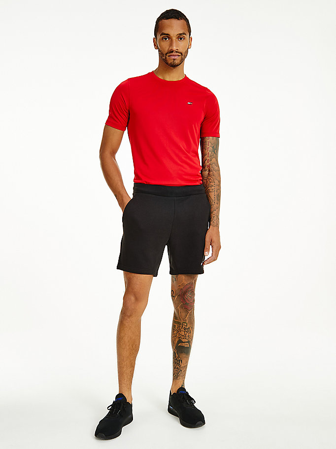 schwarz sport th cool flex fleece-shorts für men - tommy hilfiger