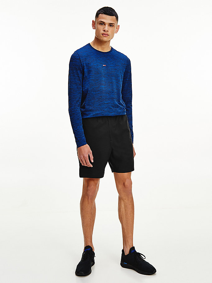 black sport logo training shorts for men tommy hilfiger