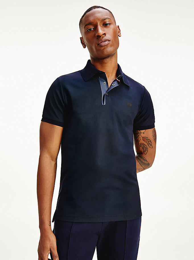 blue essential slim fit polo for men tommy hilfiger