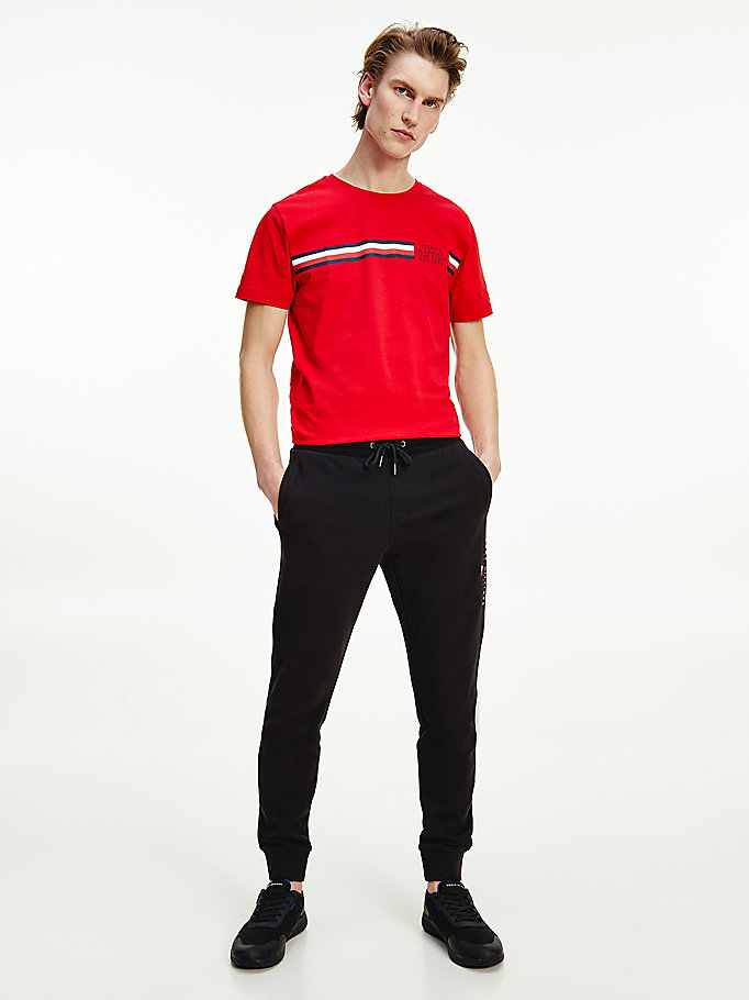 black essential organic cotton joggers for men tommy hilfiger