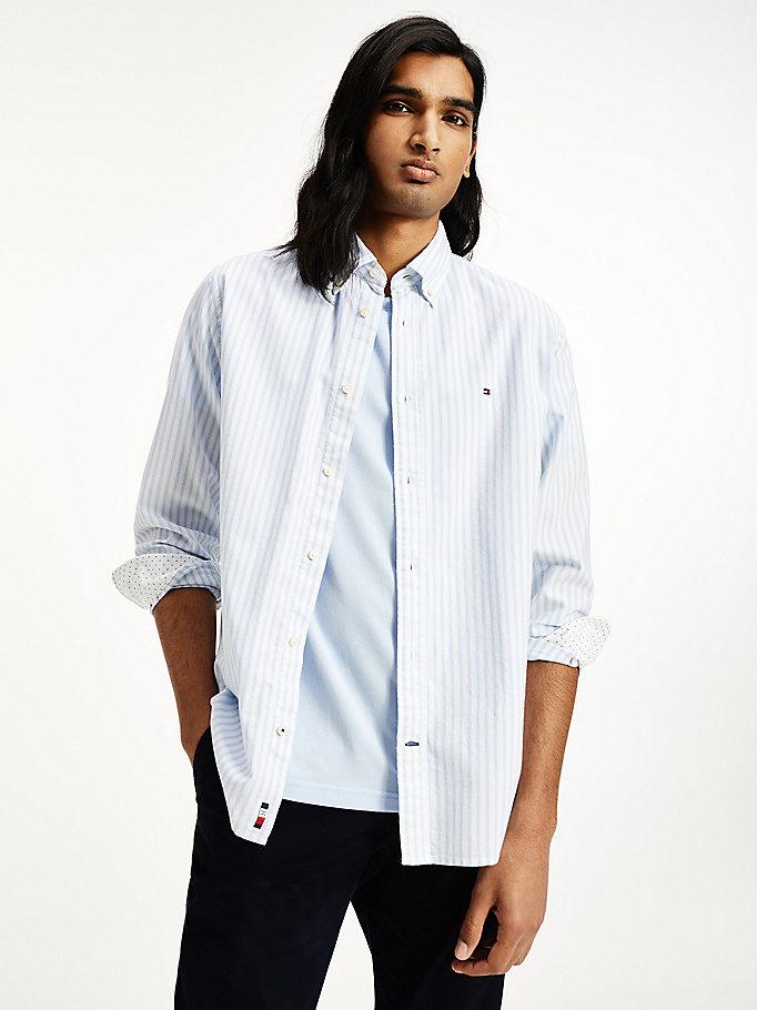M/&s Homme en Coton Pur Coupe Ajustée Carreaux OXFORD chemise taille 17.5-19 RRP £ 29.50