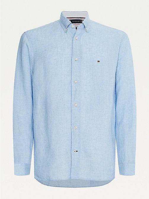 Tommy Hilfiger Hommes SEERSUCKER Coton à manches longues Casual Chemise Rayée M L XL 2XL