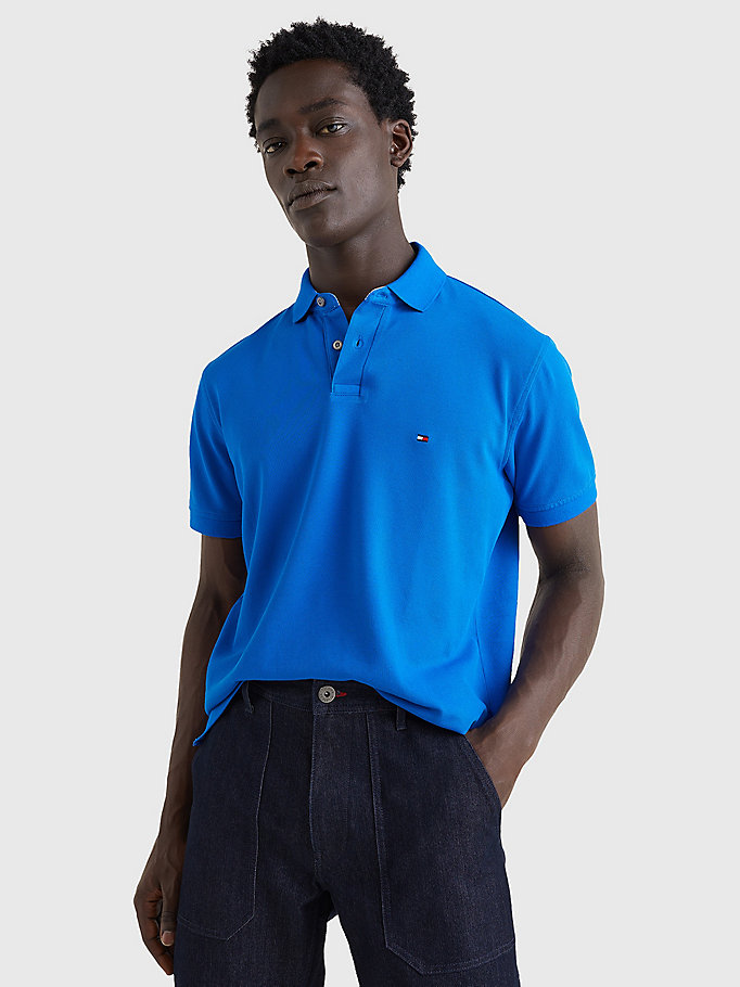 blau 1985 regular fit poloshirt für men - tommy hilfiger
