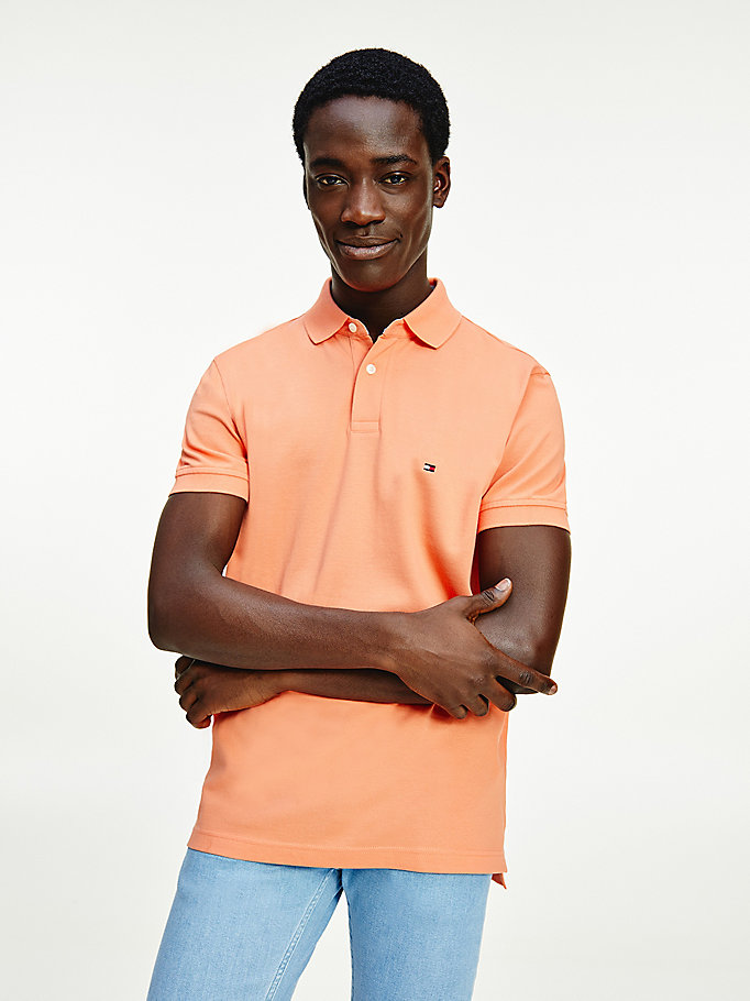 orange 1985 regular fit poloshirt für herren - tommy hilfiger