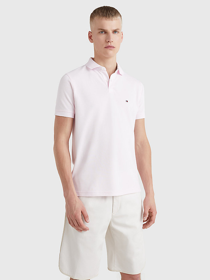 pink 1985 regular fit polo for men tommy hilfiger