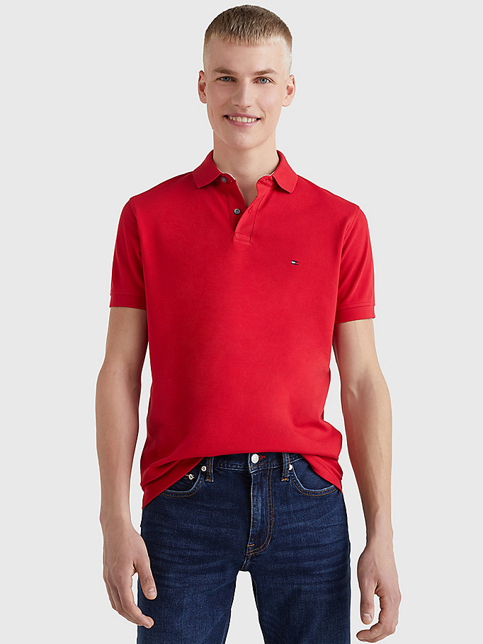 red 1985 regular fit polo for men tommy hilfiger