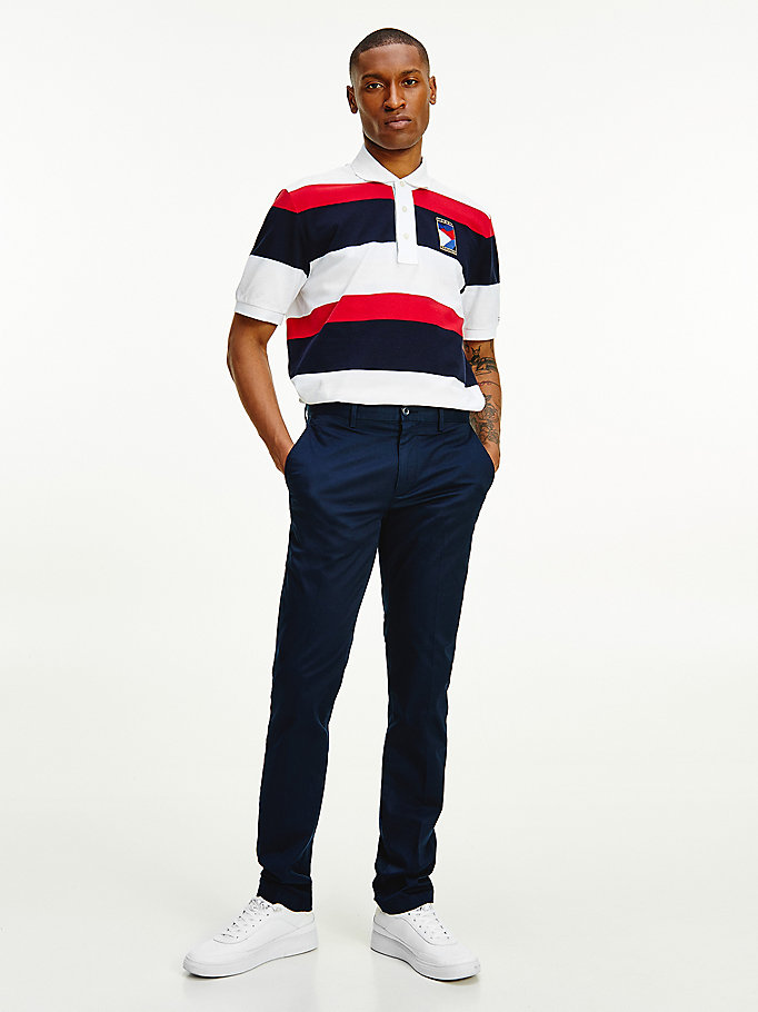 chino droit denton th flex bleu pour men tommy hilfiger
