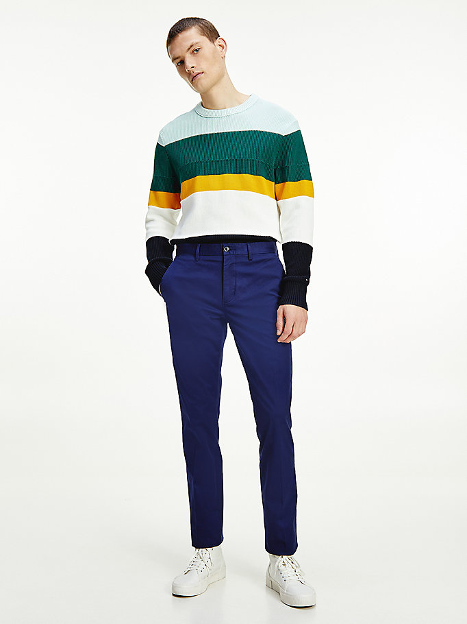 blue denton straight th flex chinos for men tommy hilfiger