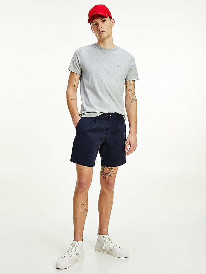blauw brooklyn th flex essential short voor heren - tommy hilfiger