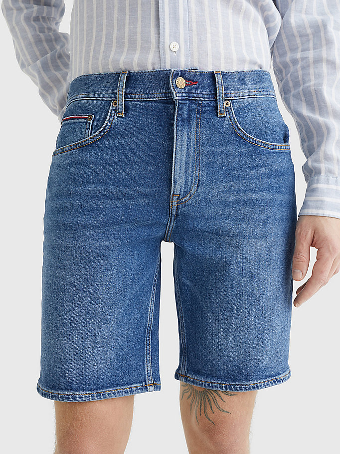 denim brooklyn regular faded denim shorts for men tommy hilfiger
