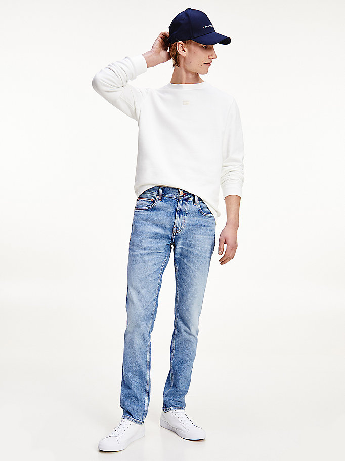 denim denton straight faded washed jeans for men tommy hilfiger