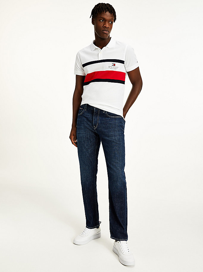 denim denton straight washed jeans for men tommy hilfiger