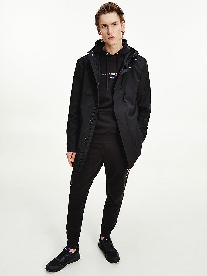 black hooded parka for men tommy hilfiger