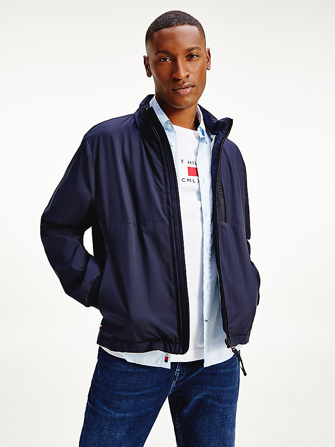 blue lightweight softshell jacket for men tommy hilfiger