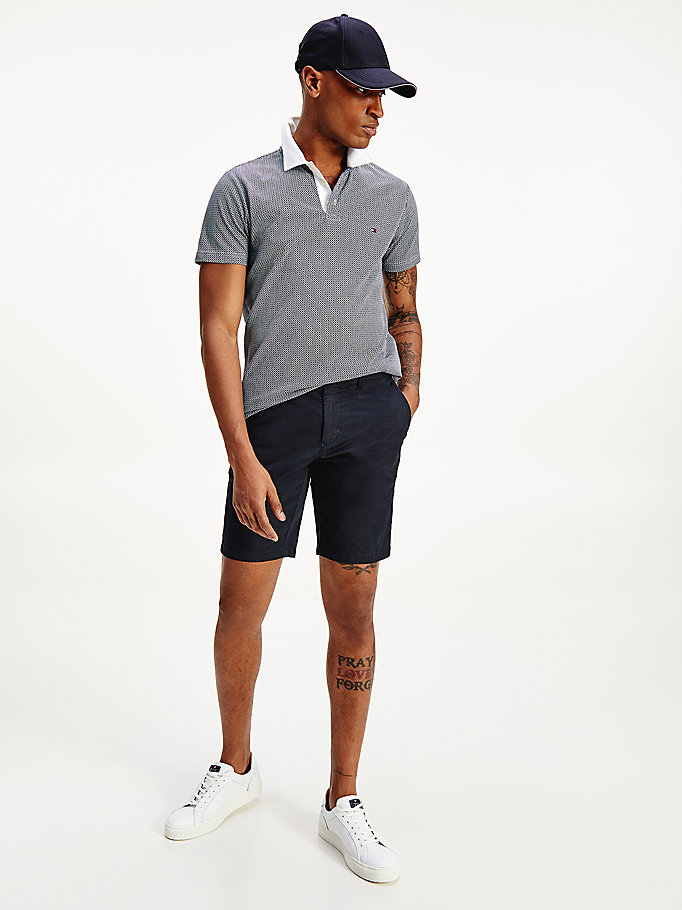 blue brooklyn structured shorts for men tommy hilfiger
