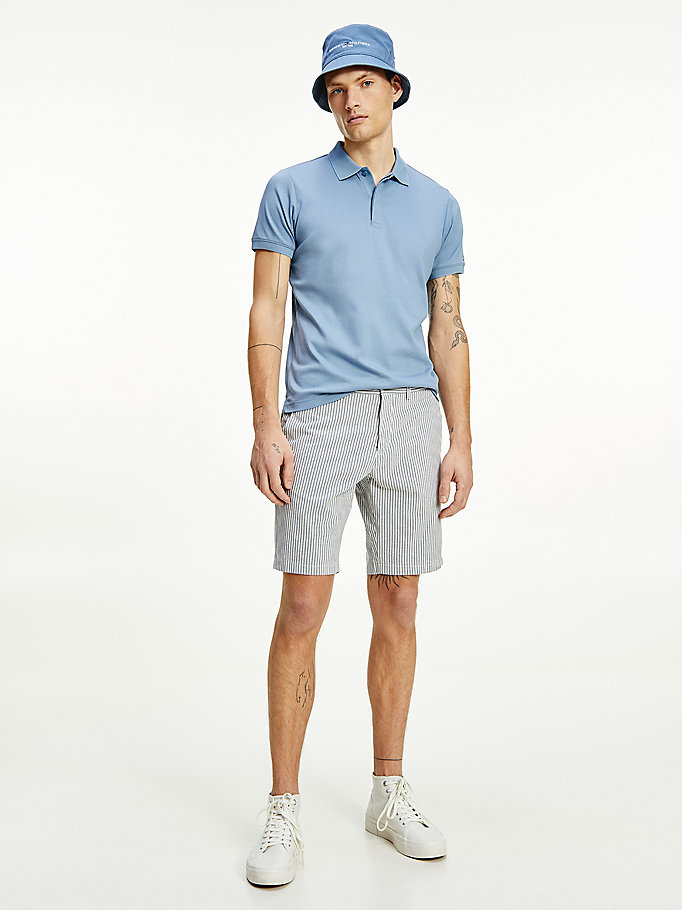 blue brooklyn pinstripe shorts for men tommy hilfiger