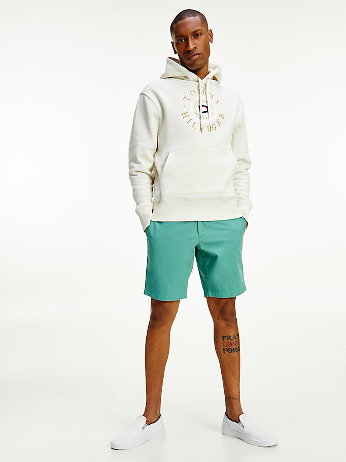 white tommy icons logo hoody for men tommy hilfiger