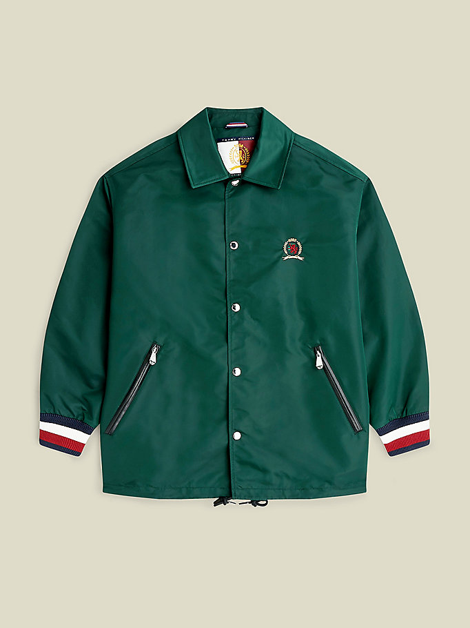 green crest coach jacket for men tommy hilfiger