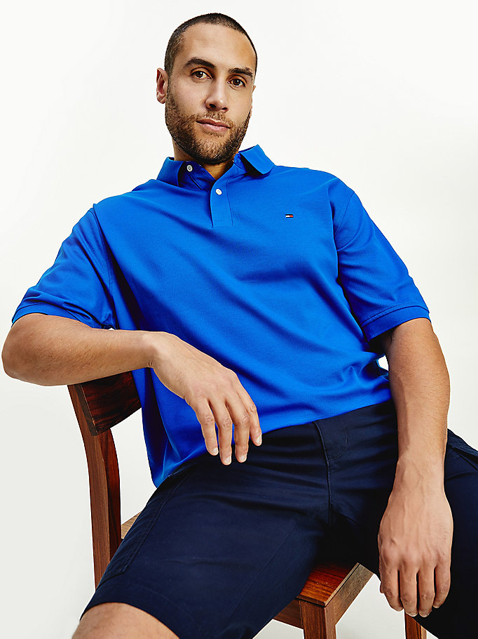 blue plus 1985 regular fit polo for men tommy hilfiger