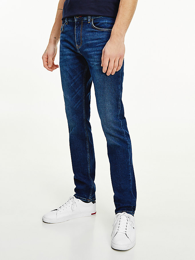 denim bleecker slim fit jeans für herren - tommy hilfiger