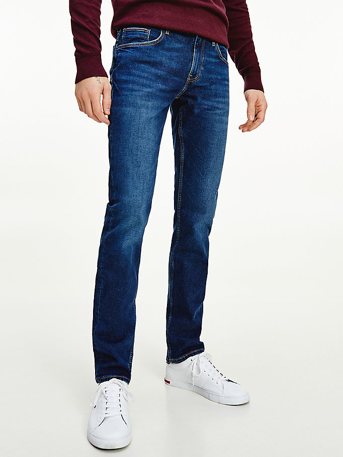 jean droit denton denim pour men tommy hilfiger