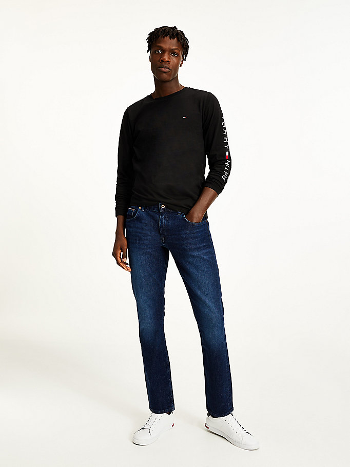 jeans denton sbiaditi denim da men tommy hilfiger
