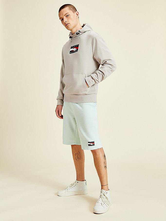 beige one planet back graphic hoody for men tommy hilfiger