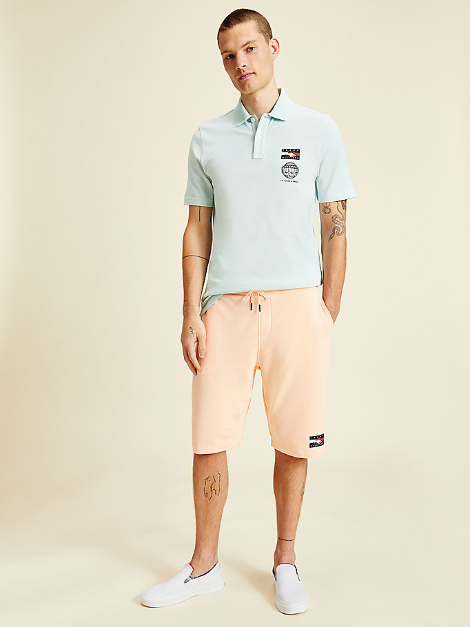pink one planet logo shorts for men tommy hilfiger