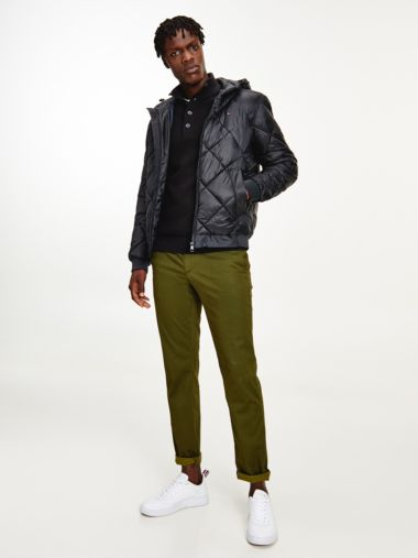 Quilted Hooded Filled Jacket
