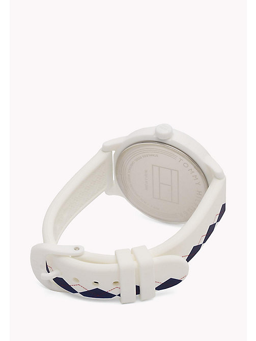 TOMMY HILFIGER Silicone Argyle Watch - MULTI - TOMMY HILFIGER Watches - detail image 1