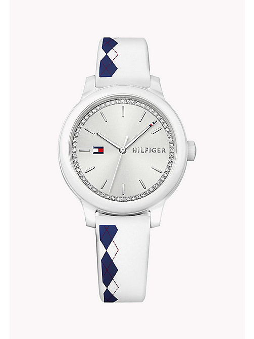 TOMMY HILFIGER Silicone Argyle Watch - MULTI - TOMMY HILFIGER Watches - main image