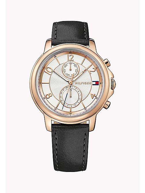 TOMMY HILFIGER Stainless Steel Leather Strap Watch - MULTI - TOMMY HILFIGER The Office Edit - main image