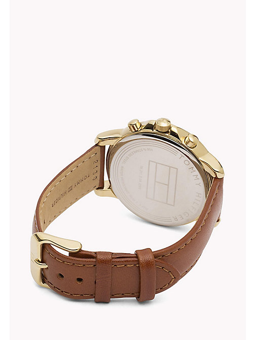 TOMMY HILFIGER Stainless Steel Leather Strap Watch - MULTI - TOMMY HILFIGER The Office Edit - detail image 1